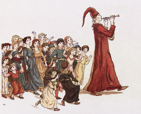 sage the pied piper of hamelin illustration