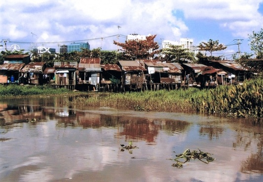 saigon slums asia
