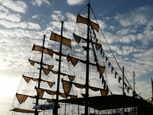 sail ship sailing vessel