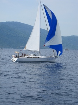 sailing boat sea yacht