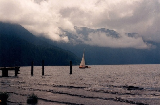 sailing in low clouds
