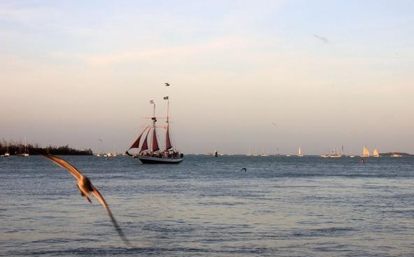 sailing ship at key west florida