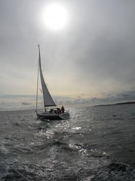sailing ship sailing ocean