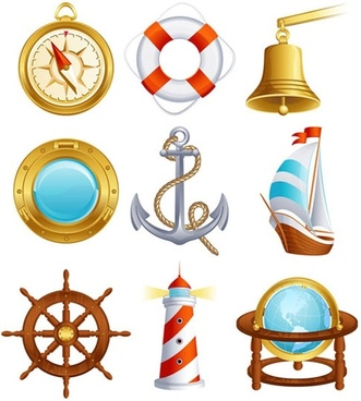 sailing small icon 02 vector