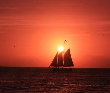 sailing under the sun at key west florida