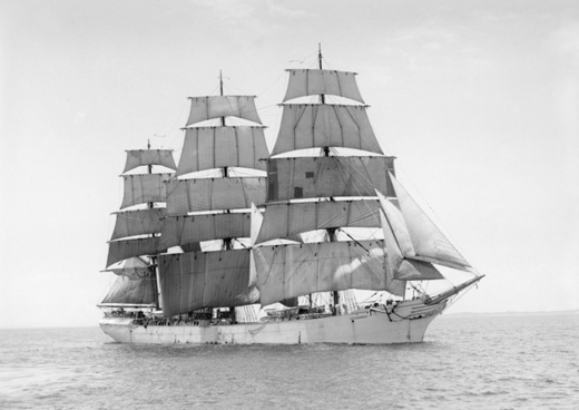 sailing vessel three-masted ship