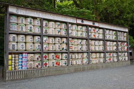 sake barrels drink