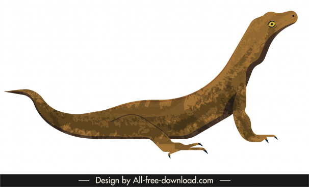 salamander animal icon 3d design cartoon sketch