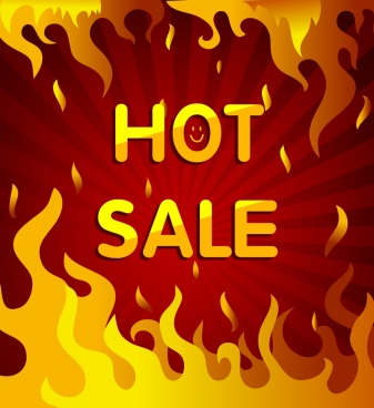 sale background rays red big fire decoration