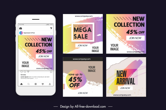 sale background templates grunge colored abstract decor