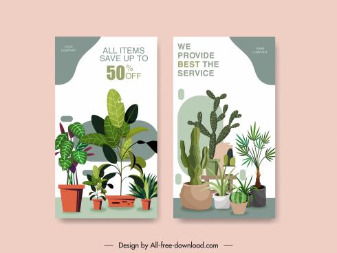 sale banner classic plants decor