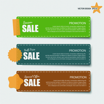 sale banner discount price vector