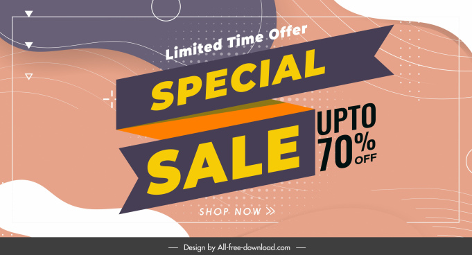 sale banner template colorful abstract decor