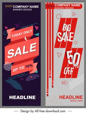 sale banner template modern decor vertical standee shape