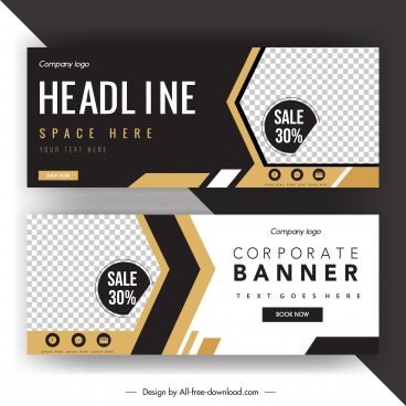 sale banner template modern elegant contrast checkered decor