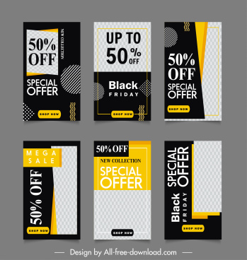sale banner templates elegant contrast checkered decor