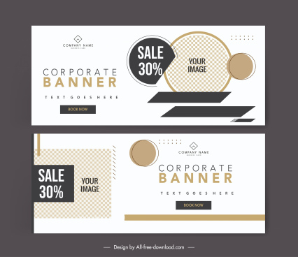 sale banner templates elegant geometric checkered decor