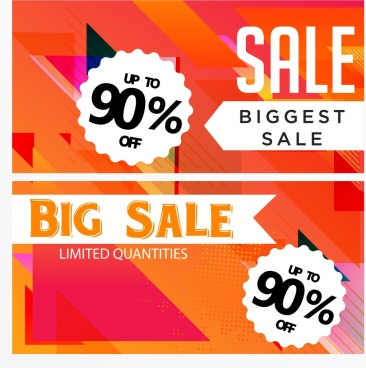 sale banner templates modern orange design