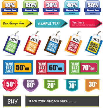 sale discount tag design elements vector