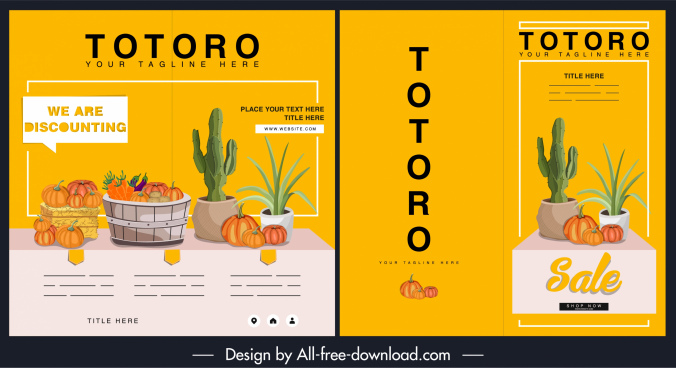 sale flyer template agricultural products decor