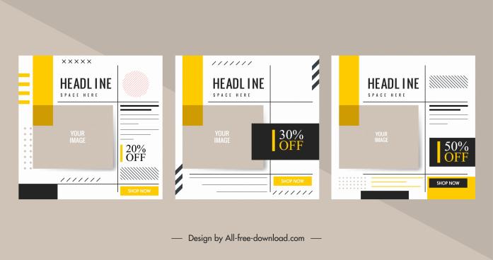 sale flyer template bright classic decor