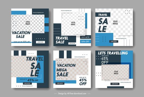 sale flyer templates abstract checkered decor