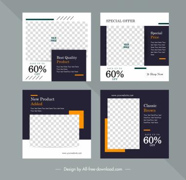 sale flyer templates elegant checkered decor contrast design