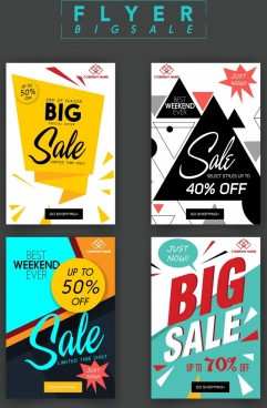 sale flyer templates modern geometric origami decor