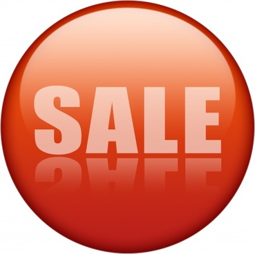sale icon red