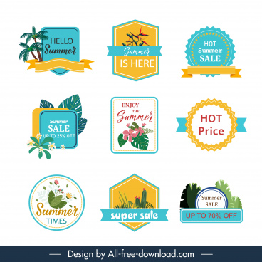 sale label templates elegant classical flat shapes