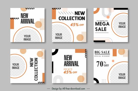 sale leaflet templates bright modern geometric checkered decor