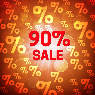 sale off background with light and bokeh