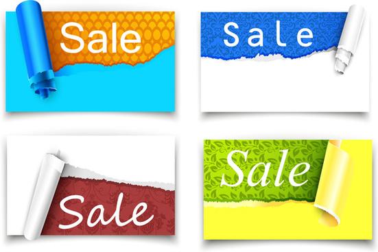 sale paper label