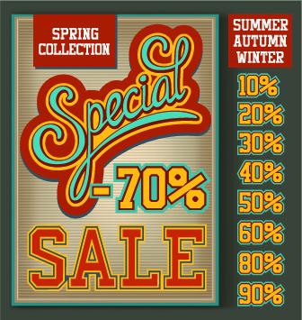 sale poster design elements vector