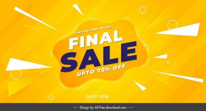 sale poster template modern bright dynamic flat decor