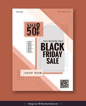 sale poster template simple flat modern symmetry