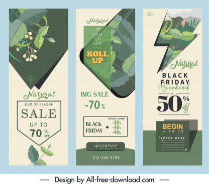 sale poster templates elegant nature elements decor