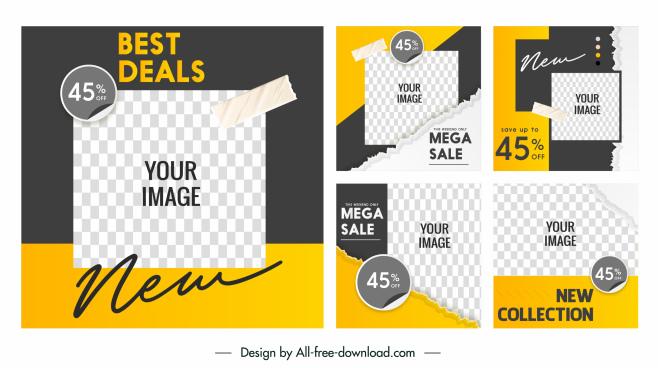 sale poster templates modern flat design elegant checkered