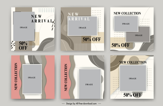 sale posters template classic abstract decor