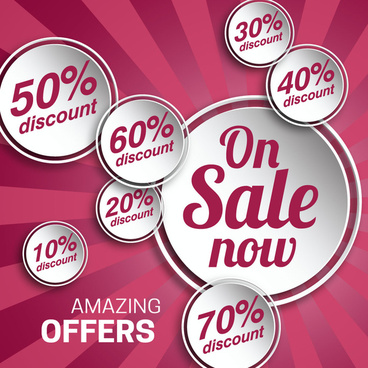 sale promotion banners design with white buttons