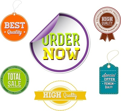 sale promotion labels collection design with various shapes