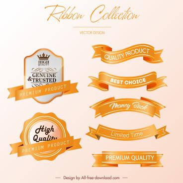sale promotion ribbon templates modern shiny 3d design