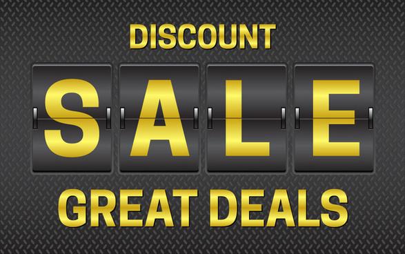 sale promotion with flip clock design