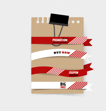 sale ribbon banner paper vector
