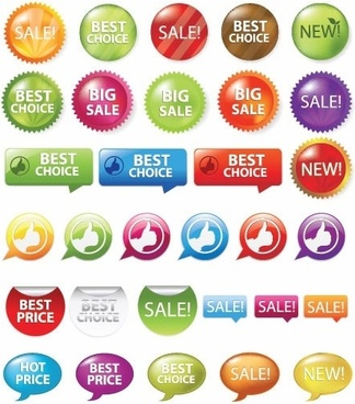Sale Shopping Tags and Signs Vector Graphics