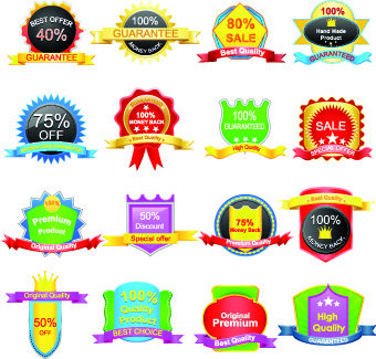 sale sticker labels and tags vector