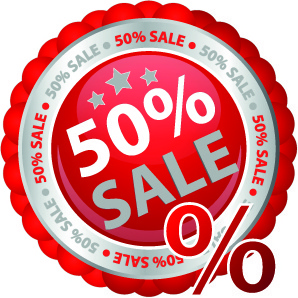 sale sticker vector design elements
