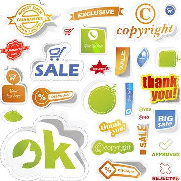 sale stickers creative vector