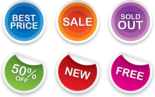 sale stickers set vector graphic