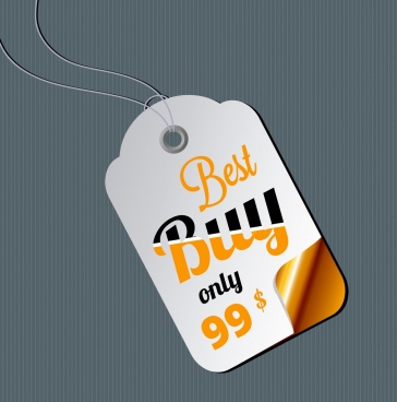 sale tag template bright modern design